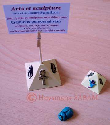 décoration de table thème Egypte - Arts et sculpture: sculpteur designer