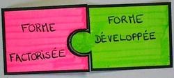 Distributivité : formules puzzle dans le cahier