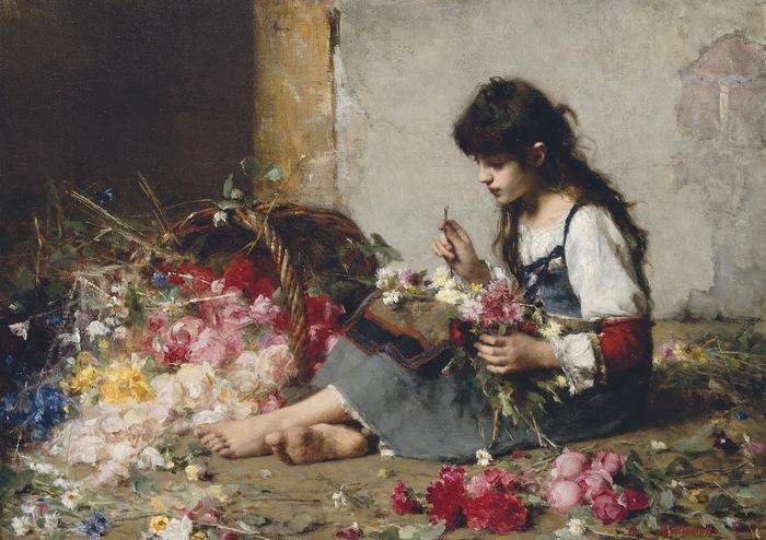 Alexei Harlamoff (1840-1925) | Genre painter