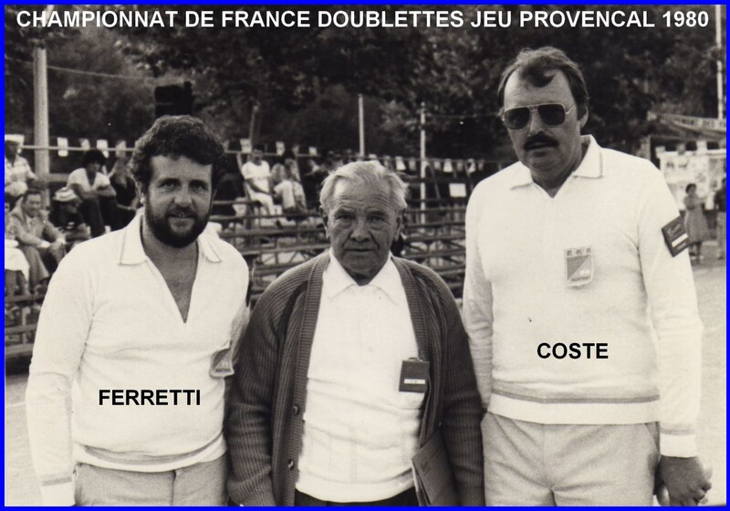 Les qualifiés du 06 Doublette JP de 1977 à 1999