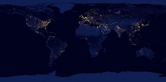 La-Terre-la-nuit