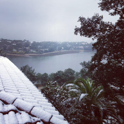 hossegor sous la neige