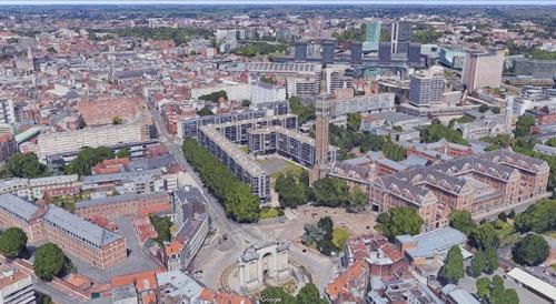 Lille - centre ville en 3D (GoogleMaps)