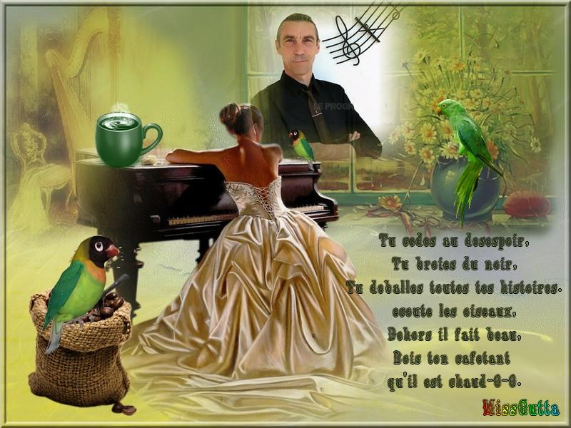 Défi pour Gentille rebelle ! (Boit ton café) chanteur Louis trio ,