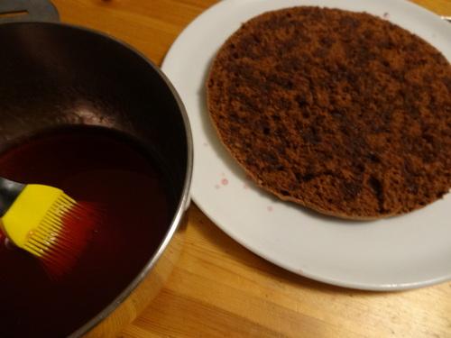 Layer cake choco cerises fraises