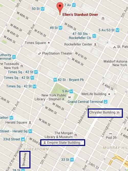 NEW YORK 2016- Jour 6- Soirée au Ellen's Stardust