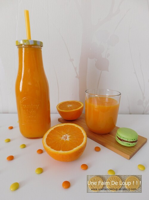 Smoothie détox orange pomme carotte
