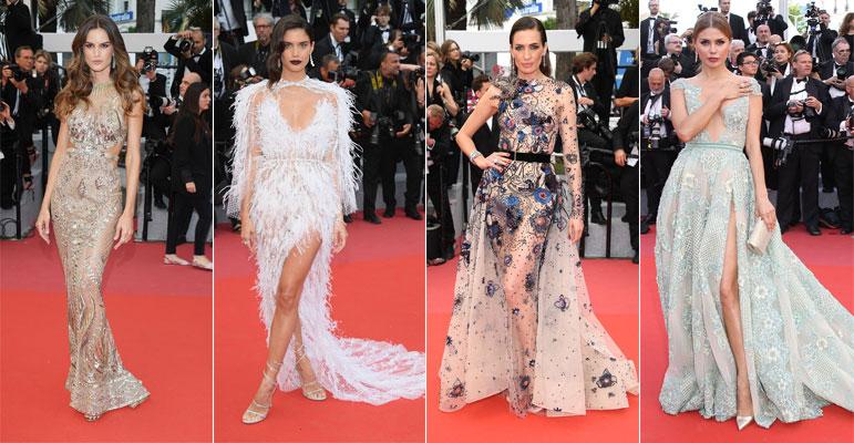 Robes de soirée sexy festical de cannes 2018 Izabel Goulart, Sara Sampaio, Nieves Alvarez et Victoria Bonya