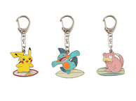Porte clé métal Pikachu, Ramoloss et Flobio surf