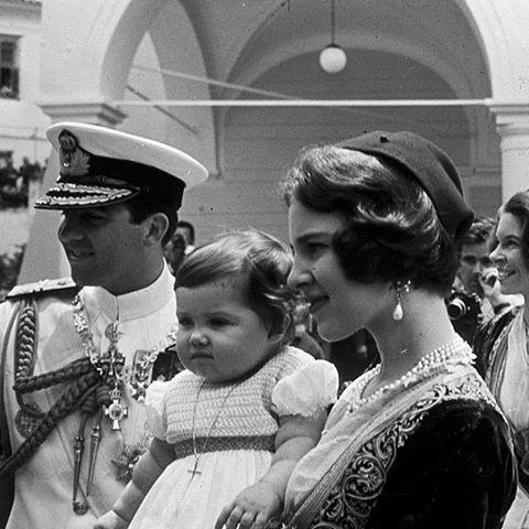 Constantin, Anne-Marie et Alexia de Grèce