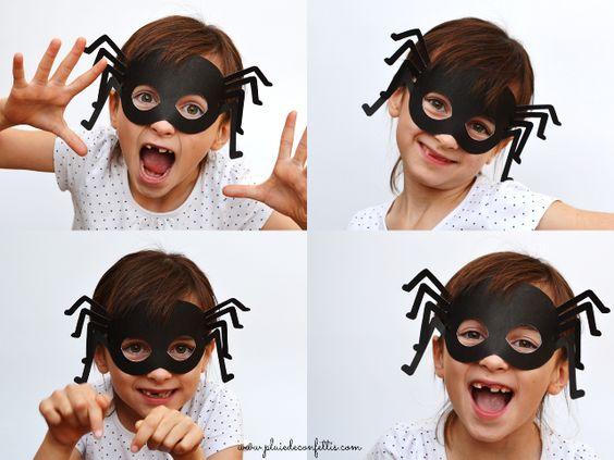 Pour Halloween, déguisez-vous en araignée grâce à ce masque gratuit à imprimer!: