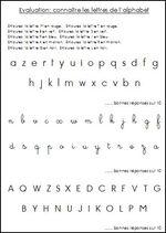 Évaluation CP: Je connais les lettres de l'alphabet