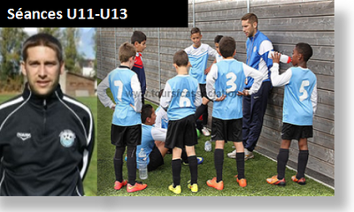 Exercices de foot U11 de Yoan LEJEUNE ( FC Tours)