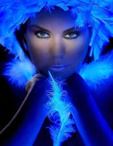 bleu brillants et perles