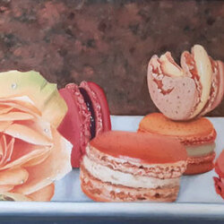 Macarons à la rose 70 x 50 Sylvie Marin-Durand