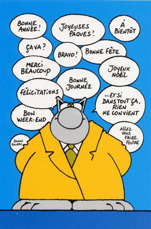 """""""Il rempilait chaque année en marche arrière"""". Jacques Damboise in """"Pensées bof""""."""