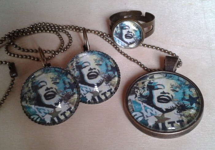 "Parure "" Marylin in blue"""