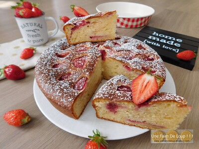 Moelleux aux fraises & yaourt grec