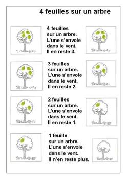 4 feuilles sur un arbre