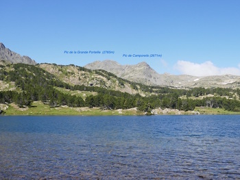 Au bord de l'étang del Mig, vers l'ouest