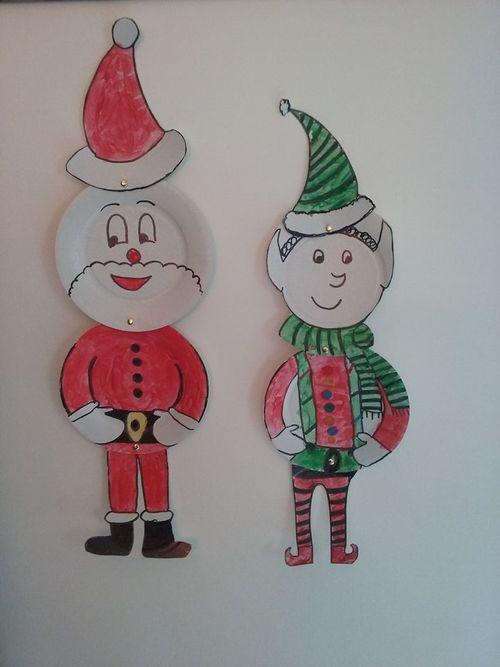 DIY en cartons Père Noël Lutin et Renne 1