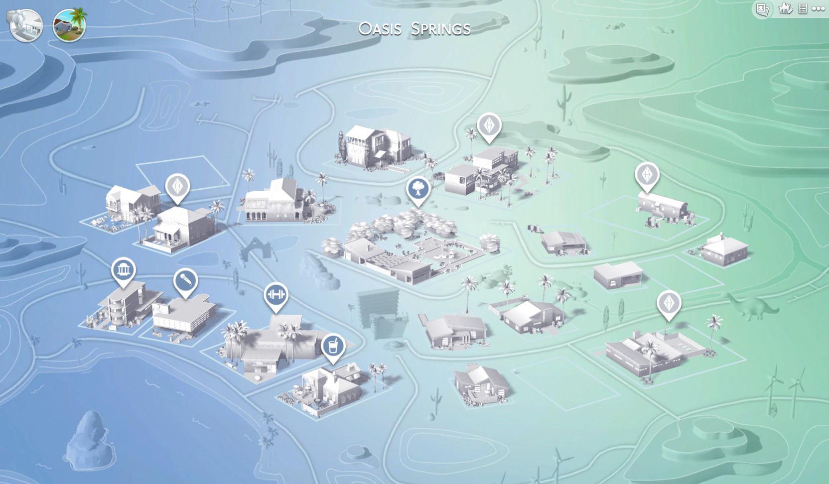 Sims 4 Jeu De Base Oasis Springs Parthenia Lost In Ze Sims