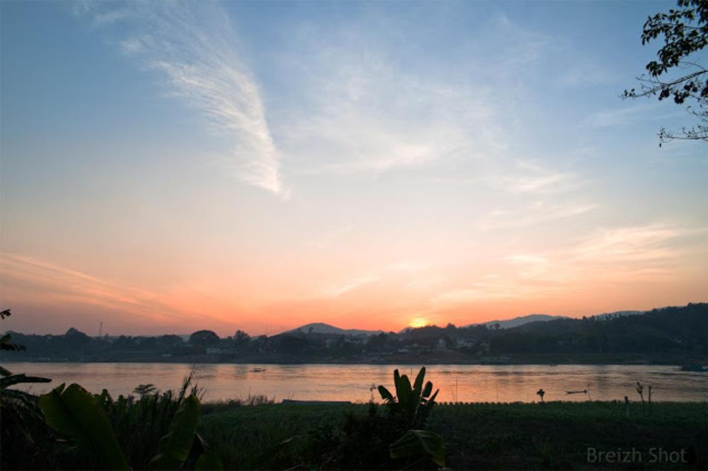Houay Xai - Coucher de soleil sur le Triangle d'or