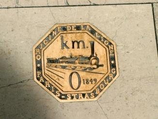 Marque du point kilométrique zéro de la gare de l'Est