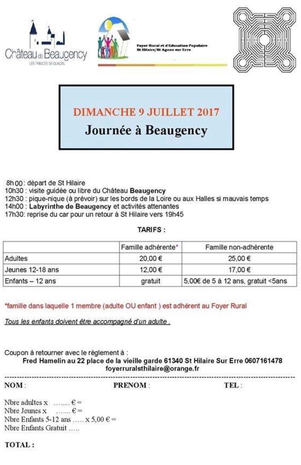 Voyage à Beaugency ouvert à toutes et tous le 9 juillet