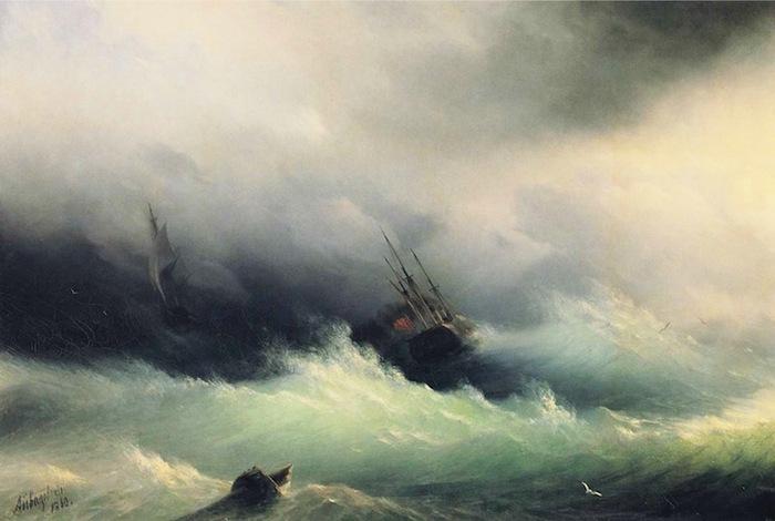 Vagues Translucides dans la Peinture du XIXème Siècle......Ivan Konstantinovich Aivazovsky