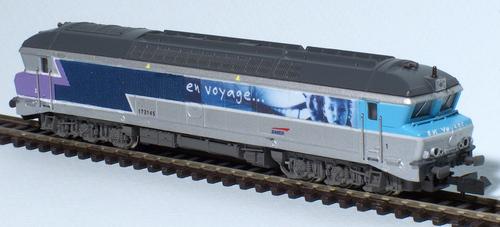 La CC 72145 en livrée En Voyage