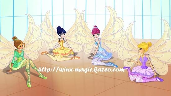 Winx Ballerines magiques au repos
