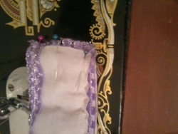 une robe d'interiere mauve