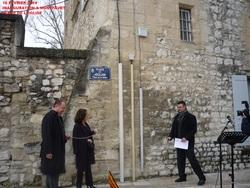 MONTFAVET - INAUGURATION PLACE DE L'EGLISE - 16 février 2014
