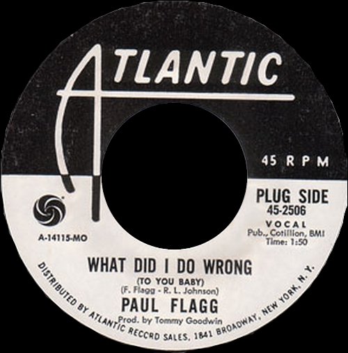 Paul Flagg : The Singles 1967 - 1969