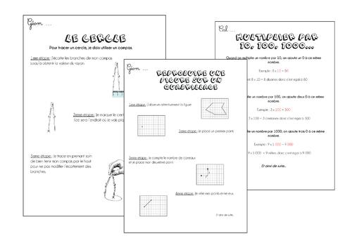 Leçons Maths CE Période 4
