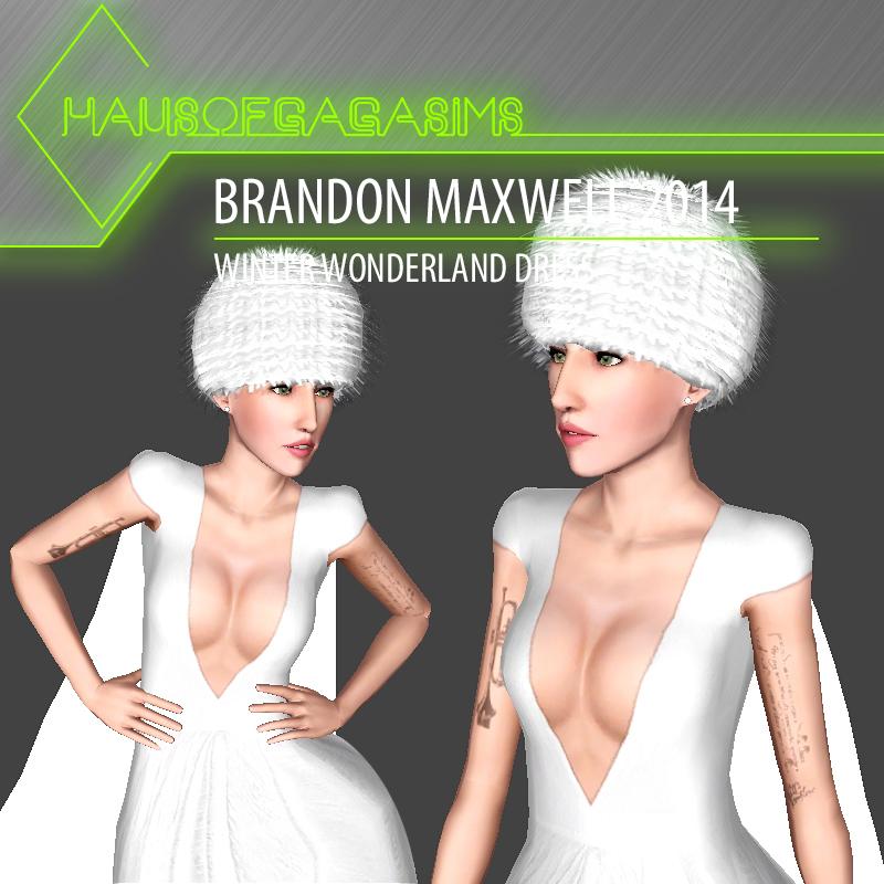 BRANDON MAXWELL 2014 WINTER WONDERLAND DRESS