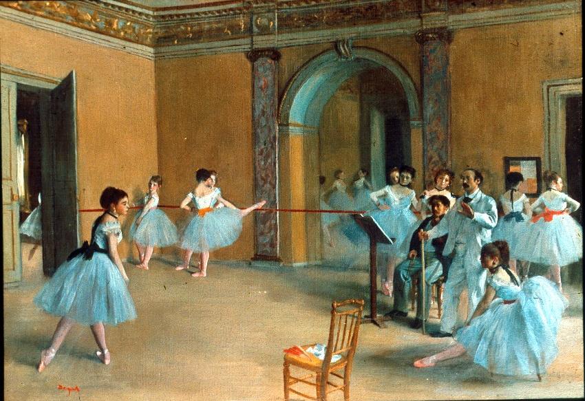Le foyer de la danse à l'Opéra de la rue Le Peletier (Edgar Degas, 1872, Musée d'Orsay)