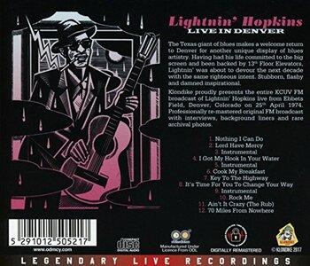 Le Choix des Lecteurs # 117: Lightnin' Hopkins - Denver CO - 24/04/1974