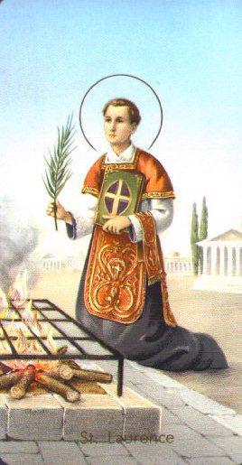 Saint Laurent de Rome. Diacre et martyr à Rome († 258)