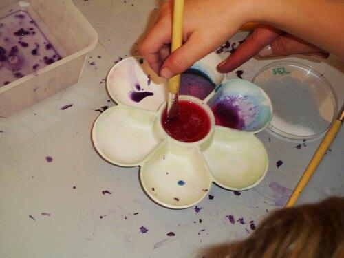 Atelier peinture végétale à la Fabrika Sciences