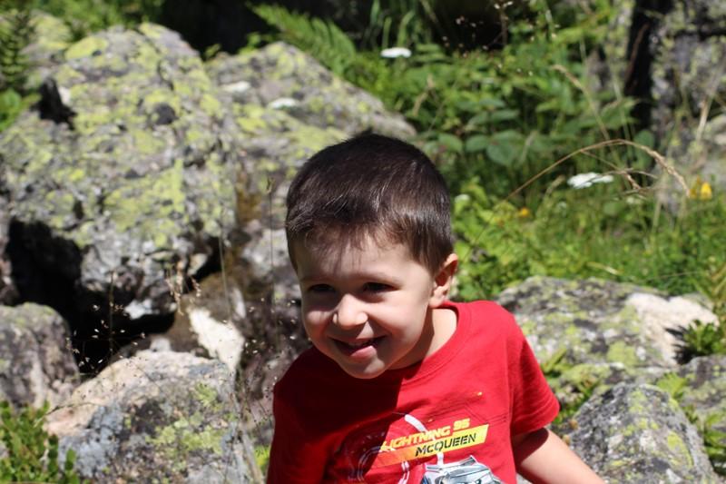 Lorenzo au lac de Suyen