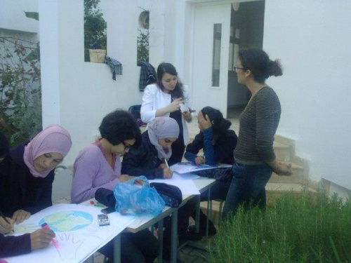 moments de joie et de partage au lycée de Bouargoub