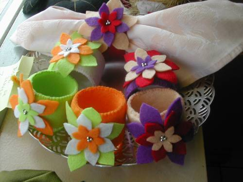 gabarit fleur ronds de serviette