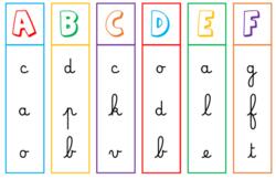 Atelier correspondance lettres capitales et lettres cursives