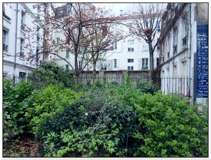 Square Jehan-Rictus à Montmartre. Paris
