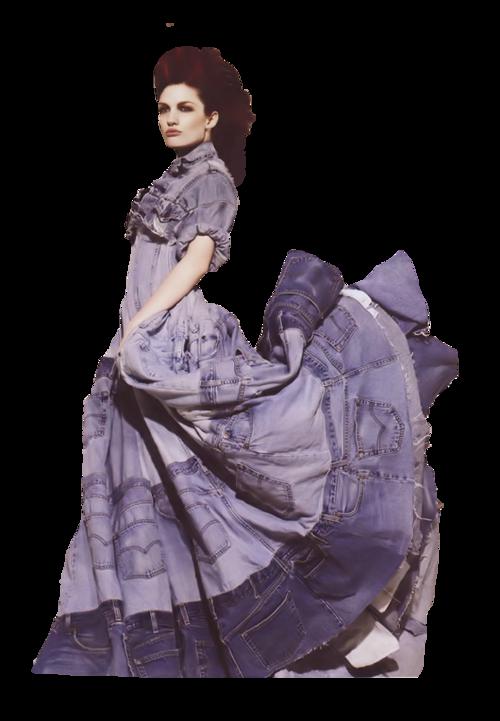 Femme vétue de violet ou pourpre  / 3