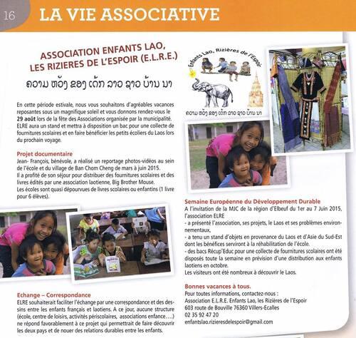 Article bulletin municipal (Juillet 2015)
