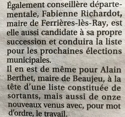 candidature Beaujeu