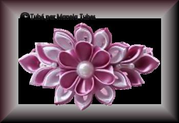 Tube fleur en tissus 2964